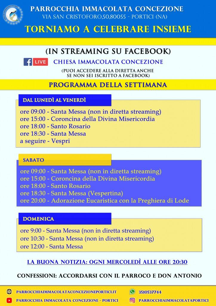 Orari Sante Messe dal 18 Maggio 2020